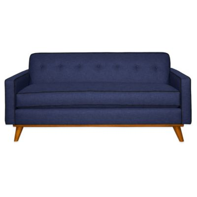Kyle Schuneman for Apt2B Clinton Mini Apartment Sofa in Navy with Coal Piping