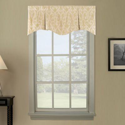 Lyra Pleated Window Curtain Valance in Raffia