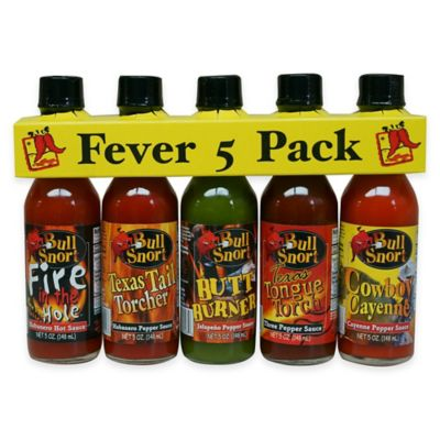 Texas Tamale Bull Snort™ Fever 5-Pack Hot Sauce Sampler