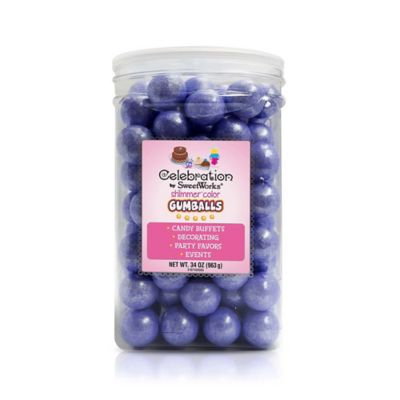 Celebration by SweetWorks® Shimmer™ Gumballs Party Jar in Lavender