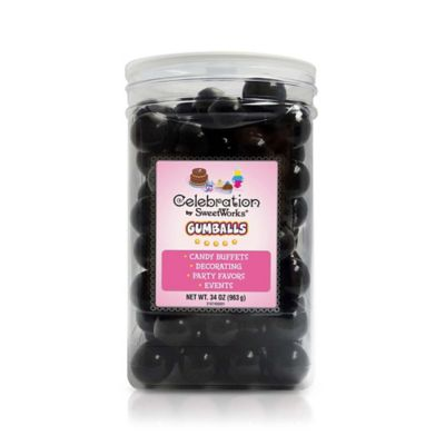 Celebration by SweetWorks® Gumballs Party Jar in Black