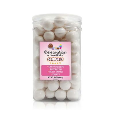 SweetWorks® Gumballs in White