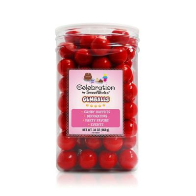 Celebration by SweetWorks® Gumballs Party Jar in Red