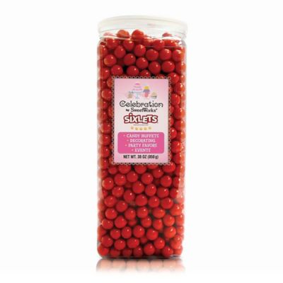 Celebration by SweetWorks® Sixlets® Party Jar in Red