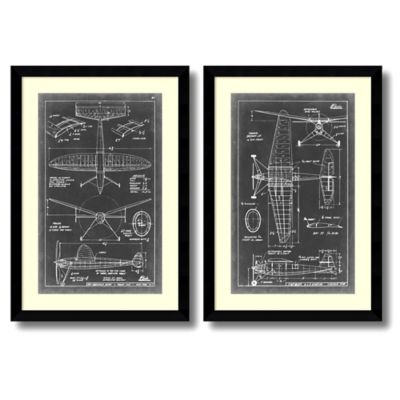 Vision Studio Aeronautic Blueprint III & IV Wall Art (Set of 2)