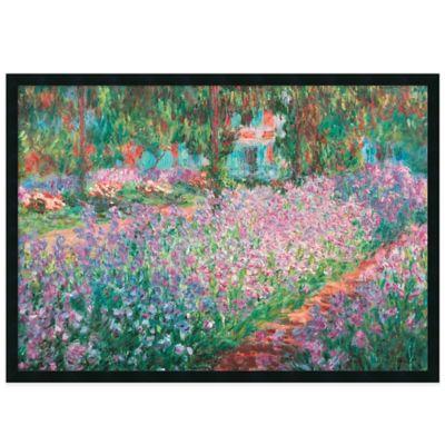Claude Monet Le Jardin de Monet a Giverny Framed Art Print