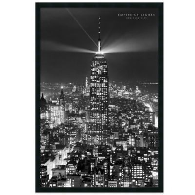 Empire of Lights Framed Print Wall Art