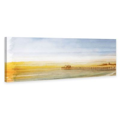 "Parvez Taj ""Surfrider"" 60-Inch x 20-Inch Canvas Art"