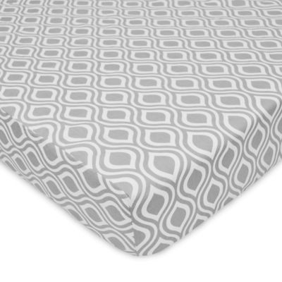 Grey Ogee Baby Bedding