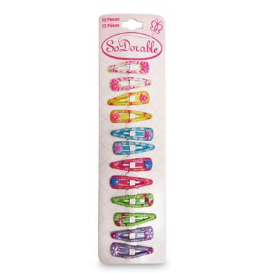 So'Dorable 12-Piece Hand-Painted Hair Snap Clips