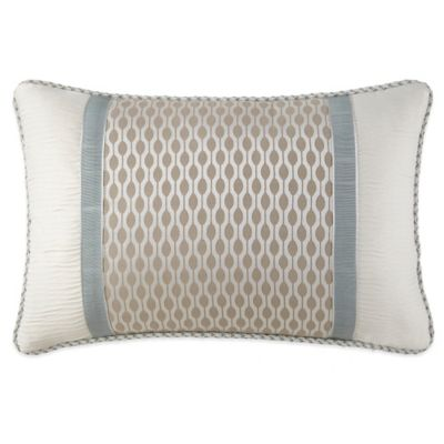 Waterford® Linens Jonet Breakfast Throw Pillow in Cream/Blue