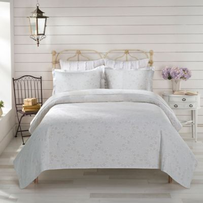 LaMont Home Meadow Twin Coverlet in Apricot