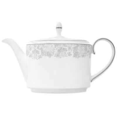 Grey Lace Teapot