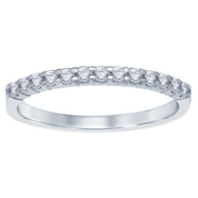 14K White Gold .25 cttw Prong-Set Diamond Size 6 Ladies' Wedding Band