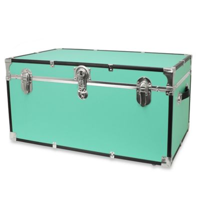Mercury Luggage Footlocker Trunk in Aqua