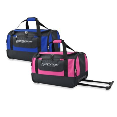 20-Inch Carry-On Rolling Duffle in Pink