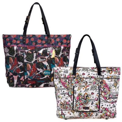 Sakroots Artist Circle Travel Tote in Optic Songbird