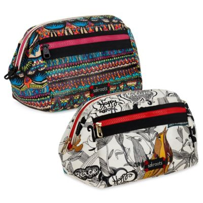 Sakroots Artistic Circle Cosmetic Case in Flower Power