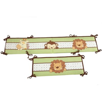 Little Bedding by NoJo® Jungle Pals 4-Piece Crib Bumper