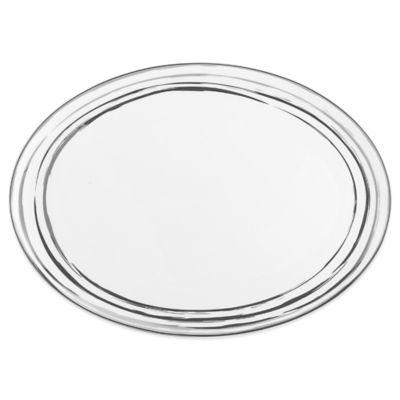 Mikasa® Swirl Platinum Oval Platter