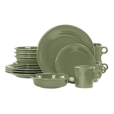 Fiesta® 16-Piece Dinnerware Set in Sage