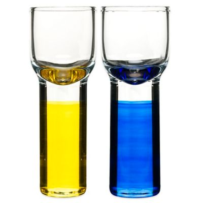 Sagaform® Club Shot Glasses in Yellow/Blue (Set of 4)