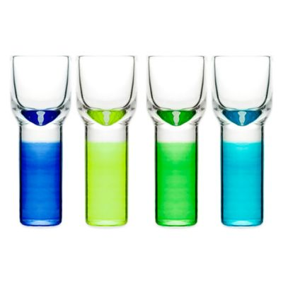 Sagaform® Club Shot Glasses in Blue/Green (Set of 4)