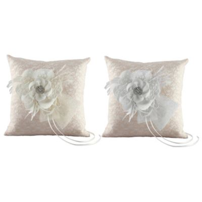 Ivy Lane Design™ Bianca Ring Pillow in White