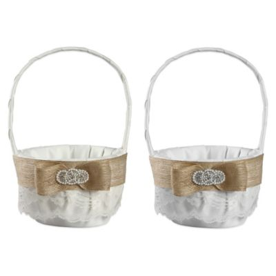 Ivy Lane Design™ Savannah Flower Girl Basket in White
