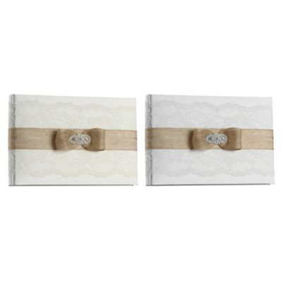 Ivy Lane Design™ Savannah Guest Book in White