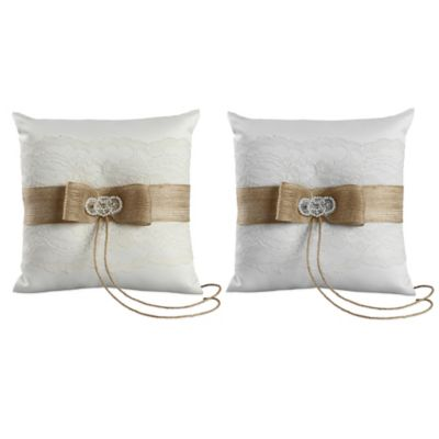 Ivy Lane Design™ Savannah Ring Pillow in Ivory