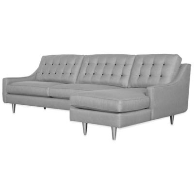 Kyle Schuneman for Apt2B Cloverdale 2-Piece Right Arm Facing Sectional in Grey with Sprite Buttons