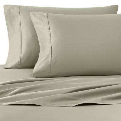 Wamsutta® 400 Thread Count Antique Bed Sheet Set in Sage