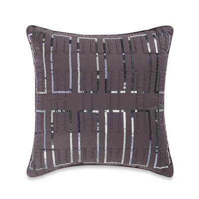 Manor Hill® Ellis Sequin Square Throw Pillow in Charcoal