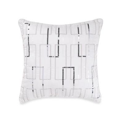 Manor Hill® Ellis Sequin Square Throw Pillow in Ivory