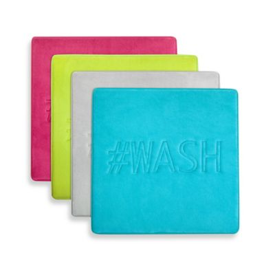 Microdry® Memory Foam #WASH 20-Inch x 20-Inch Bath Mat in Lime