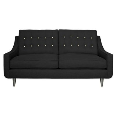 Kyle Schuneman for Apt2B Cloverdale Mini Apartment Sofa in Coal with Sprite Button Tufting
