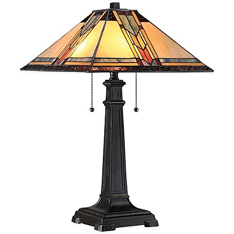 quoizel tiffany aberdeen table lamp in imperial bronze. Black Bedroom Furniture Sets. Home Design Ideas