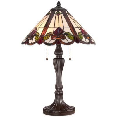 Quoizel Tiffany-Style Fields Table Lamp in Western Bronze