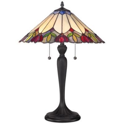 Quoizel Tiffany Fowler Table Lamp in Black