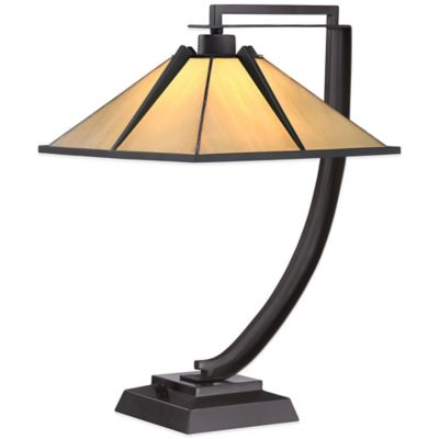 Quoizel Tiffany Pomeroy Table Lamp in Western Bronze