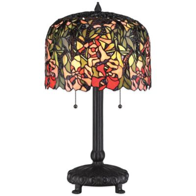 Quoizel Tiffany Red Brier Table Lamp in Western Bronze