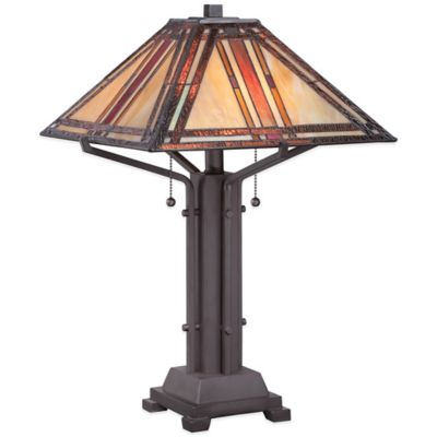 Quoizel Tiffany Revere Table Lamp in Western Bronze