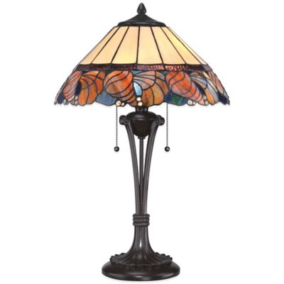 Quoizel Tiffany Sea Shell Table Lamp in Western Bronze
