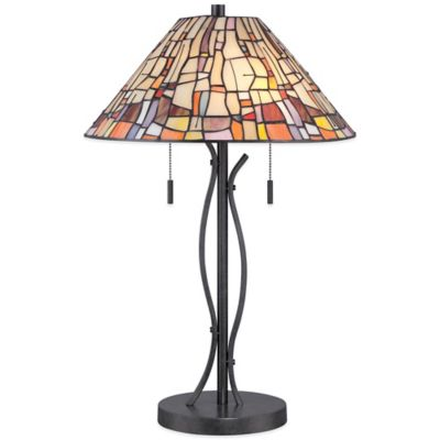 Quoizel Tiffany Stinson Table Lamp in Vintage Black
