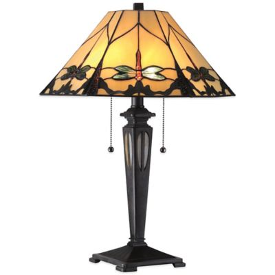 Quoizel Tiffany Summer Dragonfly Table Lamp in Imperial Bronze