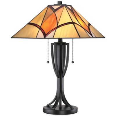 Quoizel Tiffany Sunrise Table Lamp in Valiant Bronze