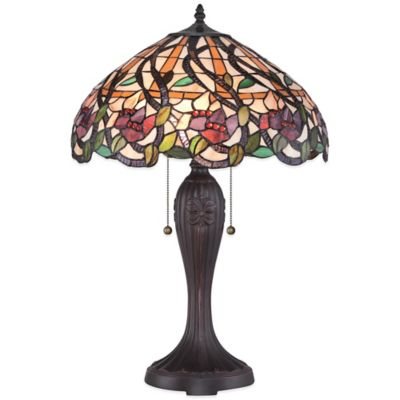 Quoizel Tiffany Wild Vines Table Lamp in Brown