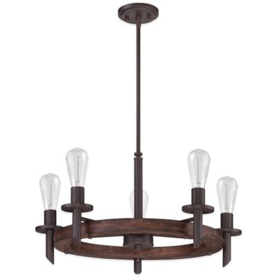 Quoizel Tavern 5-Light Chandelier in Bronze