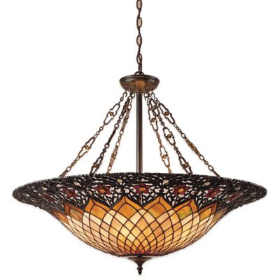 Quoizel Tiffany Adriana 6-Light Pendant in Bronze